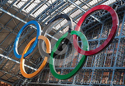 Olympic Rings London 2012 Editorial Stock Image