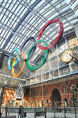 Olympic Rings in London Editorial Stock Photo