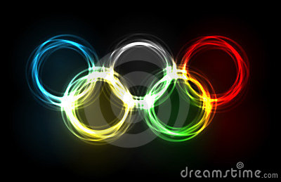 Olympic rings made of plasma Editorial Image