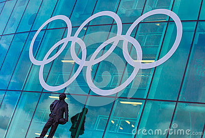 Olympic Rings Manchester Editorial Image