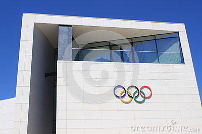 Olympic Rings Symbol Editorial Stock Photo