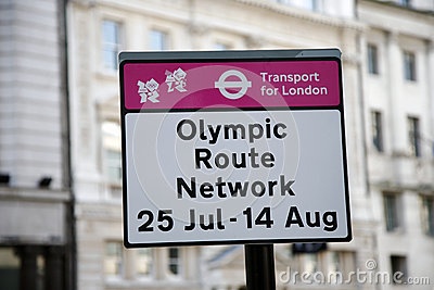 Olympic Route Network sign Editorial Stock Photo