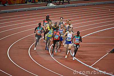 Olympic Runners Editorial Stock Image