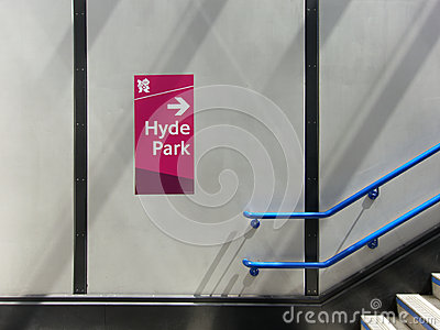 Olympic sign in the London Tube Editorial Stock Photo