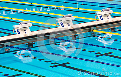 Olympic Sport Competition Swimming Pool Lanes Stock Photo Image 51931702