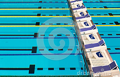 Olympic Sport Competition Swimming Pool Lanes Stock Photo Image 51932601