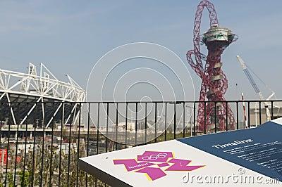 Olympic stadion Redaktionell Fotografering för Bildbyråer