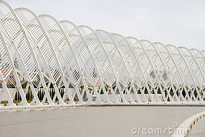 Olympic Stadium в Афиныы, Греции Редакционное Изображение
