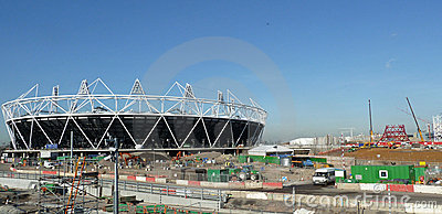 Olympic Stadium and Anish Kapoor s |Orbit Tower Editorial Stock Photo