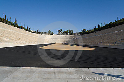 Olympic stadium in Athens, Greece Editorial Photo