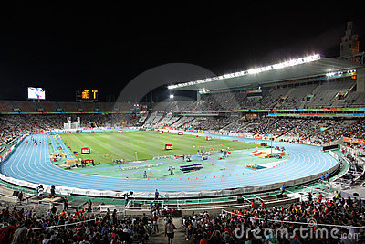 Olympic Stadium of Barcelona Editorial Photo