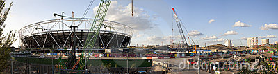 Olympic Stadium Construction Site Panoramic Editorial Image