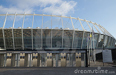Olympic Stadium  in Kyiv, Ukraine Editorial Stock Photo