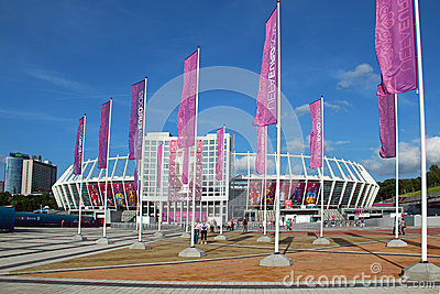 Olympic stadium in Kyiv, Ukraine Editorial Photo