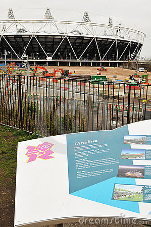Olympic stadium London 2012 Editorial Stock Photo