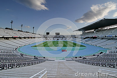 Olympic stadium Montjuic Editorial Image