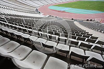 Olympic stadium of Montjuic (Barcelona) empty