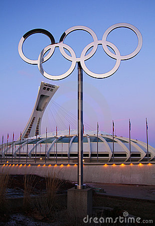 Olympic stadium montreal Editorial Stock Image