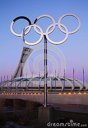Olympic stadium montreal Editorial Stock Image