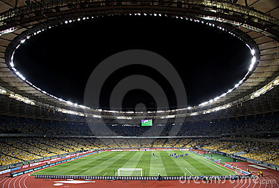 Olympic stadium (NSC Olimpiysky) in Kyiv Editorial Stock Photo