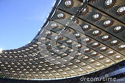 Olympic stadium (NSC Olimpiysky) in Kyiv Editorial Image