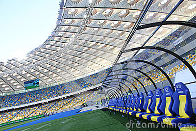 Olympic stadium (NSC Olimpiysky) in Kyiv, Ukraine Editorial Photo