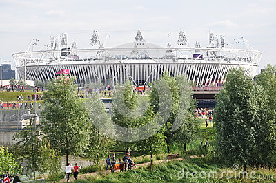 The Olympic Stadium, Olympic Park, London Editorial Image