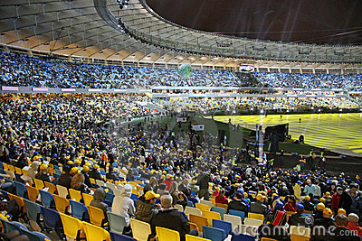 Olympic stadium opening ceremony, Kyiv, Ukraine Editorial Stock Photo