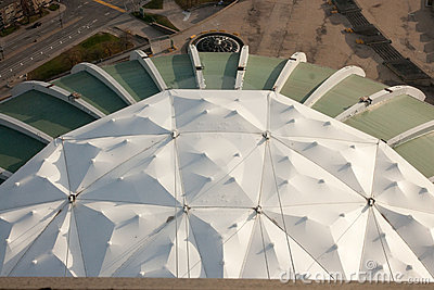 Olympic stadium roof Editorial Stock Photo