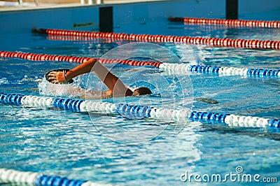 Olympic swimmer training