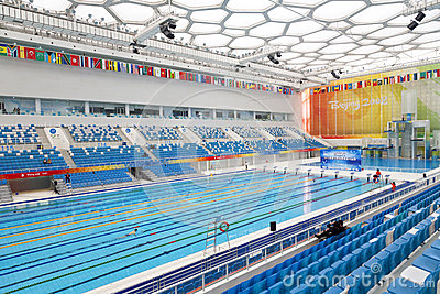 Olympic swimming pool editorial photography image 24658757 for Beijing swimming pool olympics