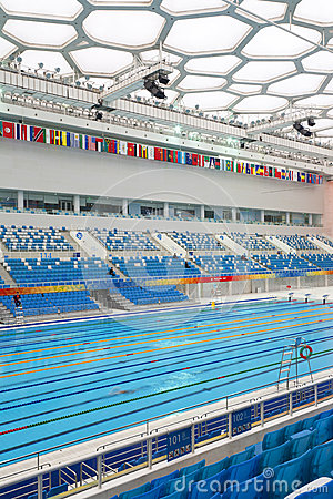 Olympic Swimming Pool Editorial Stock Photo