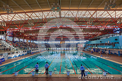 Olympic Swimming Pool Indoors Durban Editorial Stock Image