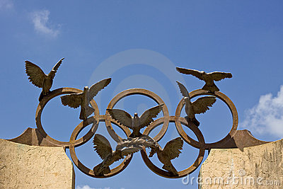 Olympic symbol Editorial Stock Image