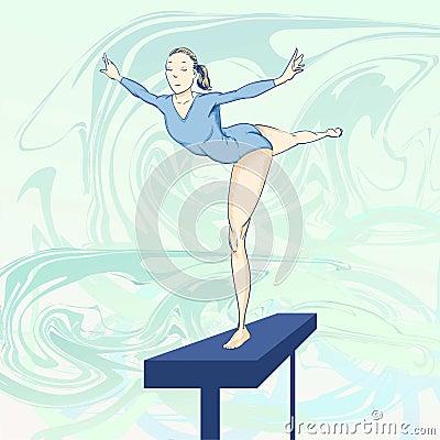 Olympic  toons -  Gymnastics