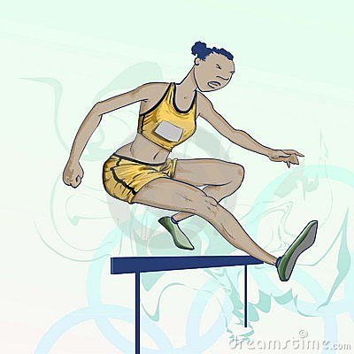 Olympic  toons -  Hurdles