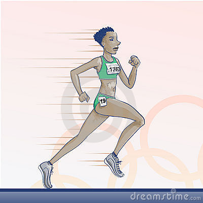Olympic  toons -  Running