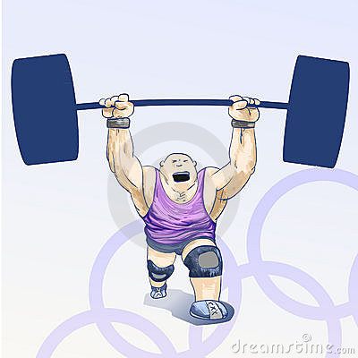Olympic  toons -  Weightlifting