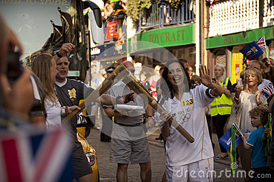 Olympic Torch 2012 Editorial Image