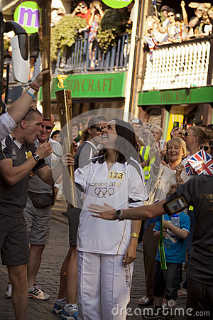 Olympic Torch 2012 Editorial Photography