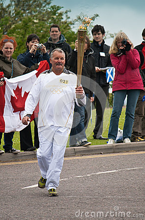 Olympic Torch 2012 Editorial Stock Photo