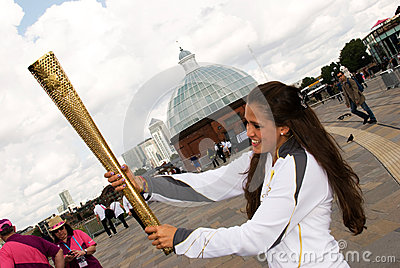 Olympic torch Editorial Stock Image