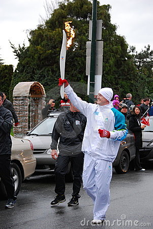 Olympic Torch Bearer Editorial Stock Image