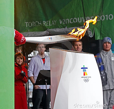 Olympic torch cauldron Editorial Stock Photo
