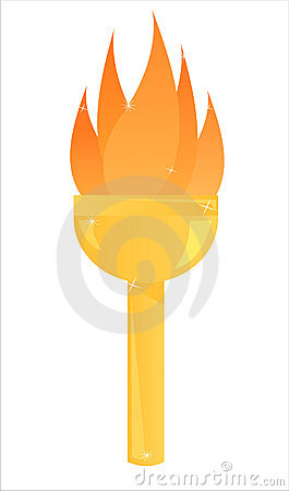 Free Olympic Torch Illustration Stock Image - 12830841