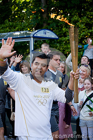 Olympic Torch London 2012 Editorial Image