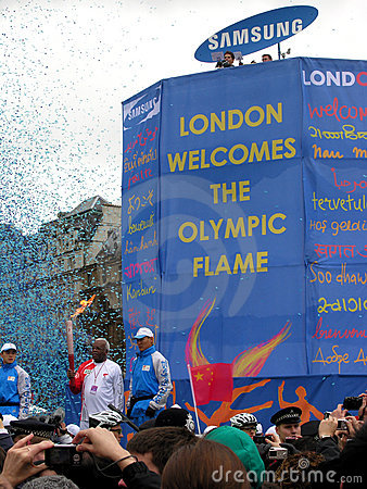 Olympic Torch in London. Editorial Photography