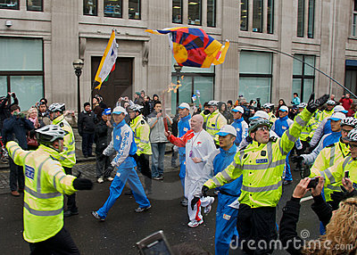 Olympic Torch in London Editorial Photography