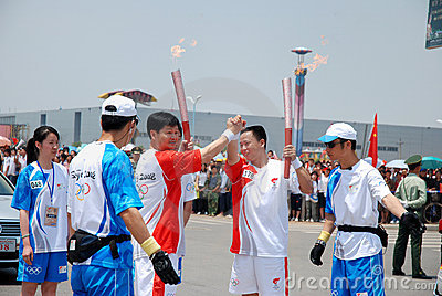 Olympic Torch Relay Editorial Stock Photo