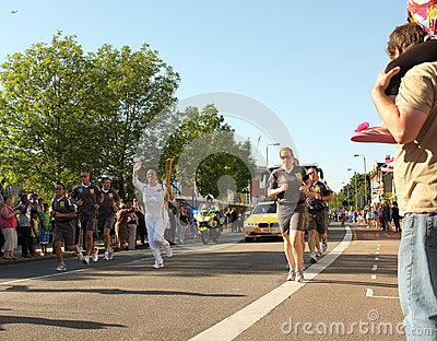 Olympic Torch Relay 2012, London Editorial Stock Image